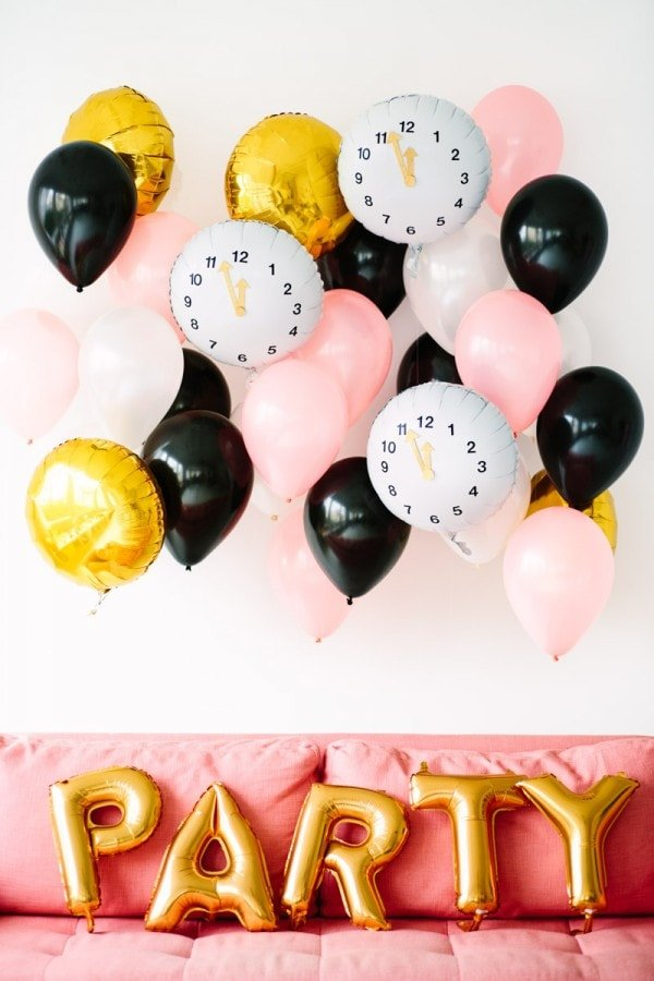 New Year's Eve DIY Clock Balloons