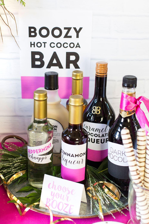 Boozy Hot Cocoa Bar