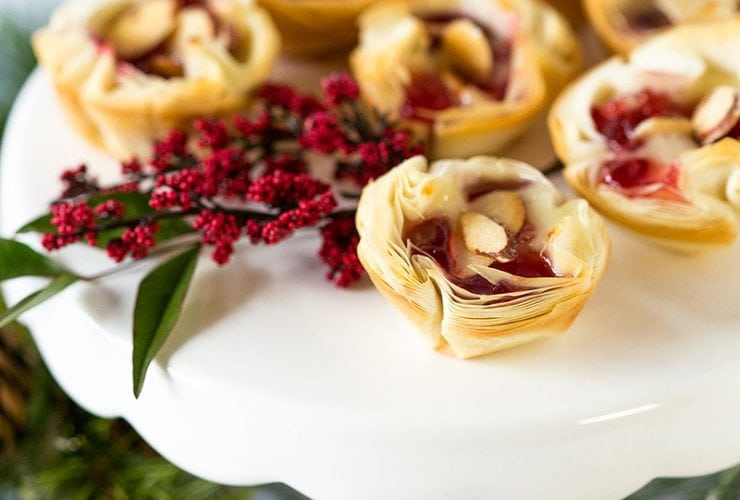 Party Appetizer: Cherry Almond Brie Bites