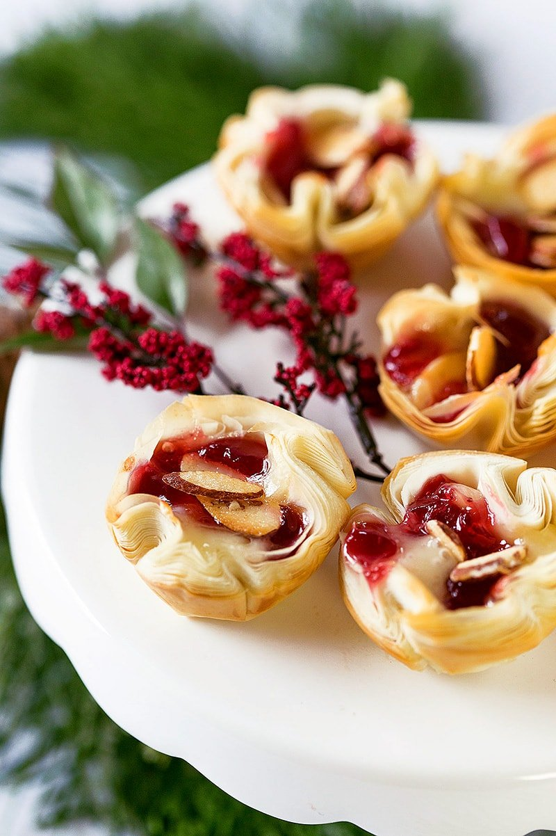Cherry Almond Brie Bites Appetizer!