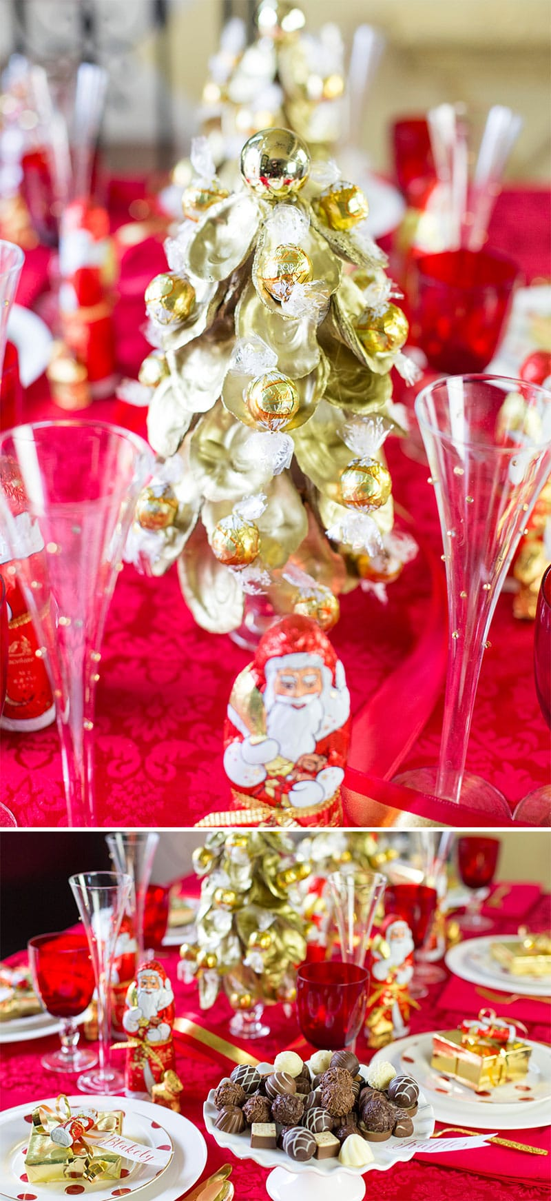 Chocolate-themed Christmas Tablescape! Inspiration and photos too.