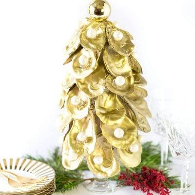 DIY Oyster Christmas Tree Tutorial