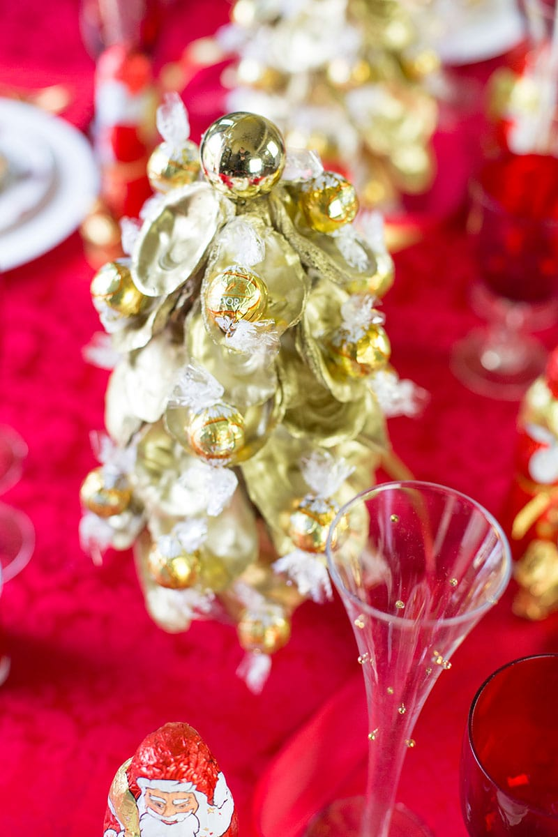 Gold Oyster Christmas Tree