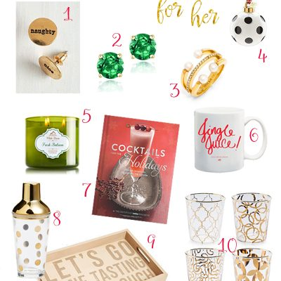 PIZZAZZERIE blog holiday gift guide for her!