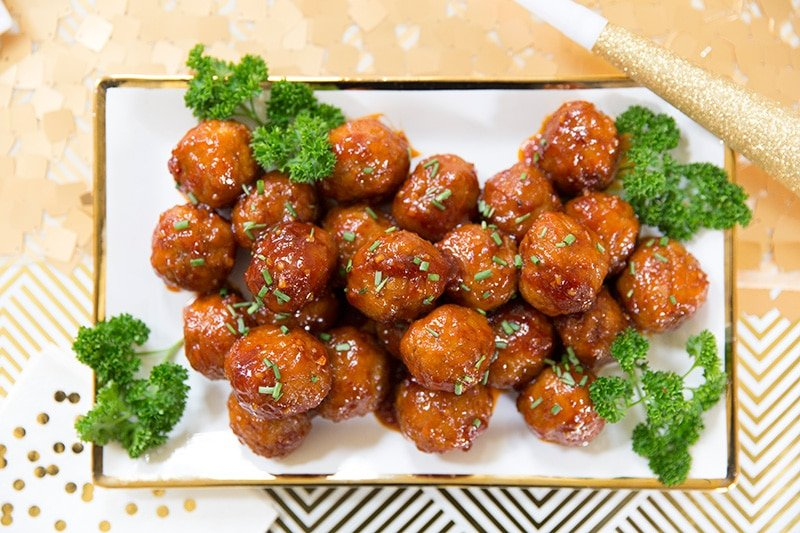 Party Appetizer Sweet N Spicy Meatballs Pizzazzerie