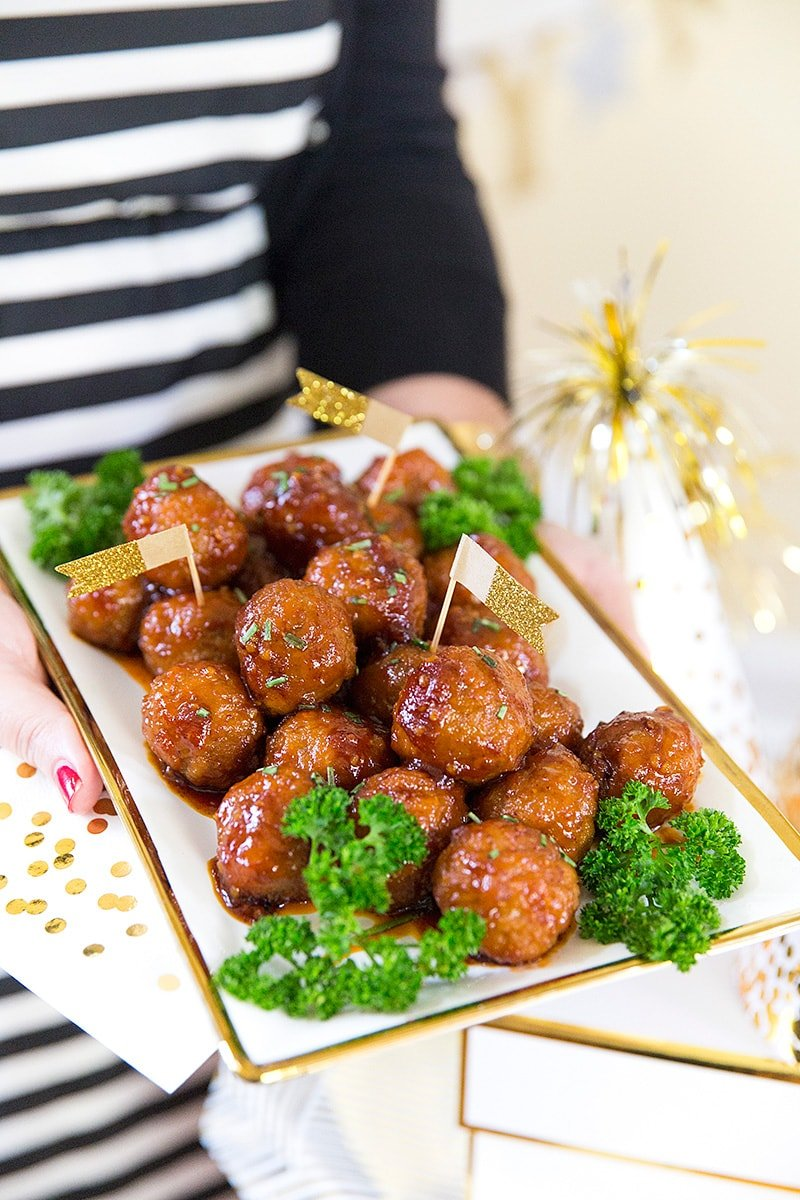 Sweet 'n Spicy Meatballs Recipe, Perfect Party Appetizer