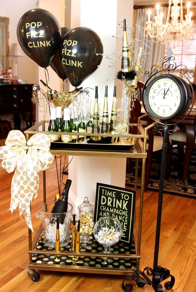 New Year's Eve Bar Cart Ideas!