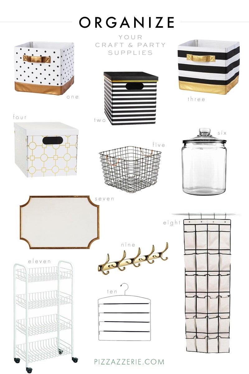 Organize Your Craft & Party Supplies in 2016!