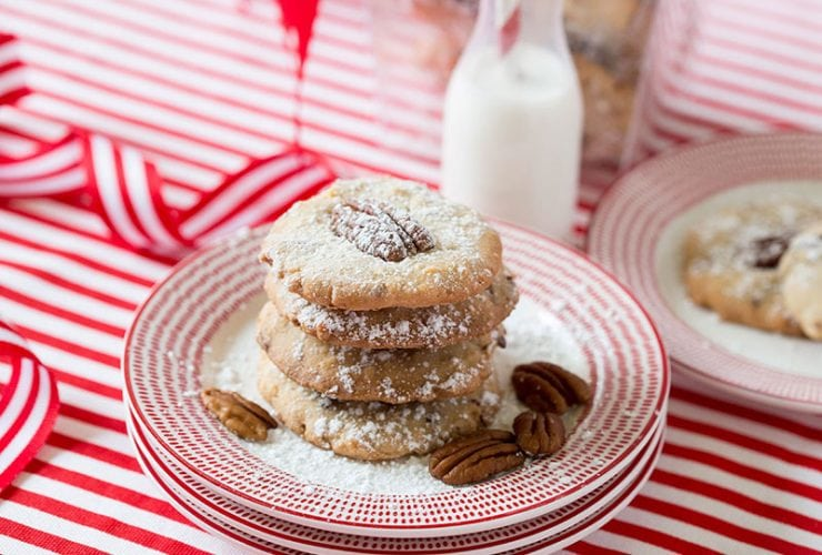 Christmas Coconut Pecan Cookies