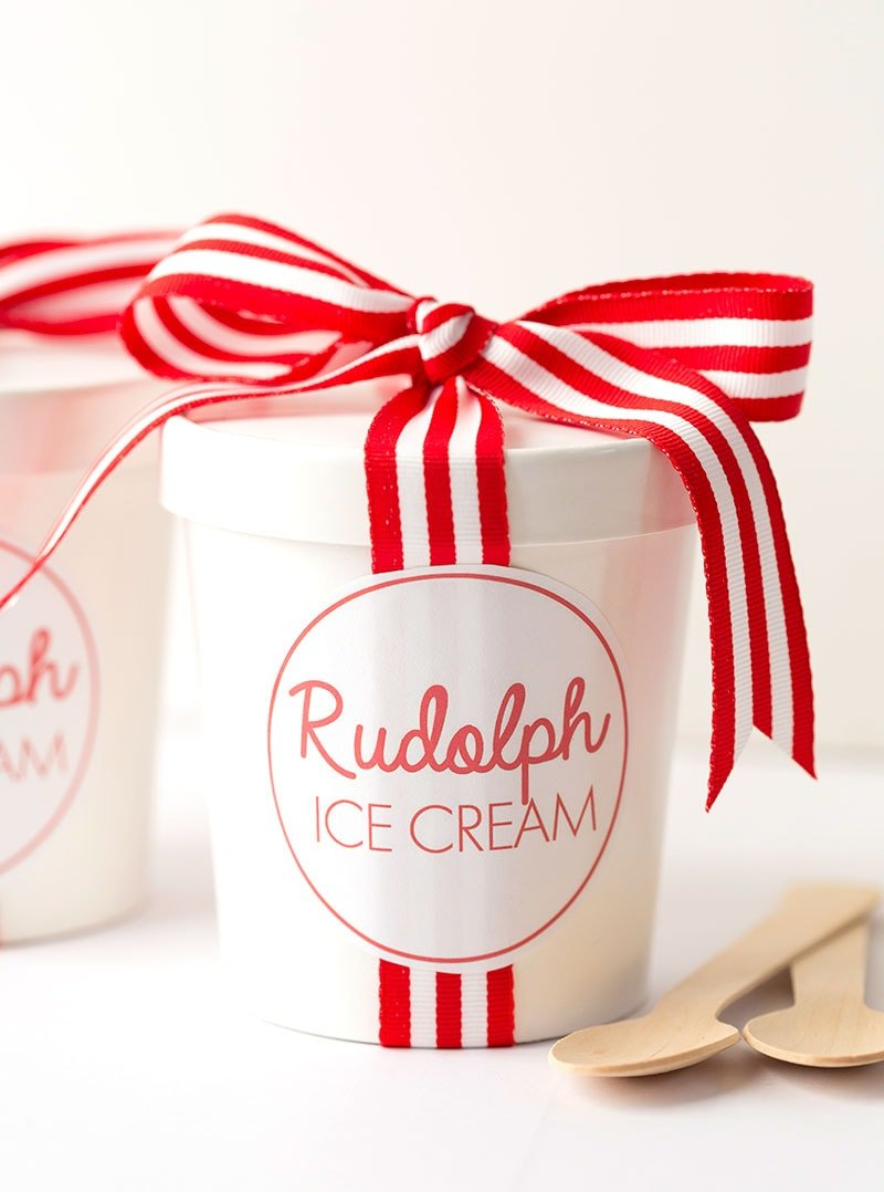 Easy, No-Churn Rudolph Ice Cream for Christmas! | Pizzazzerie