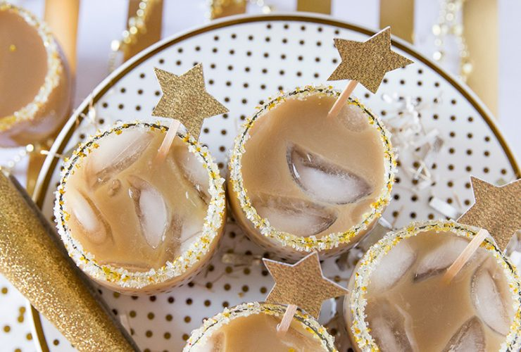 New Year's Eve Recipe: Salted Caramel Iced Coffee Cocktail