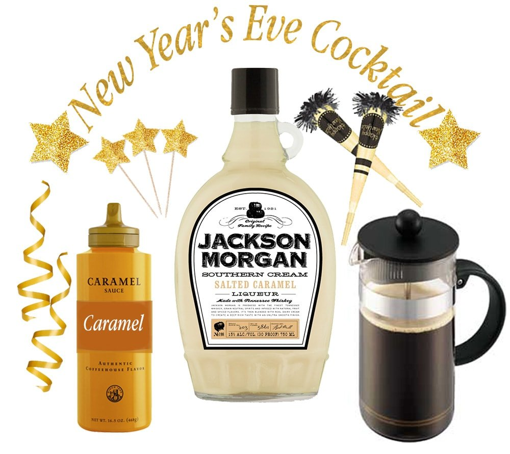 Salted Caramel Iced Coffee Cocktail Party Kit for New Year's Eve!