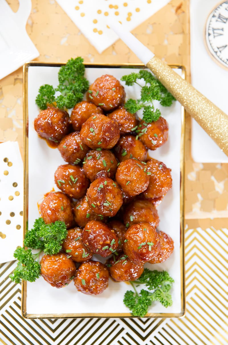 Party Appetizer: Sweet 'n Spicy Meatballs