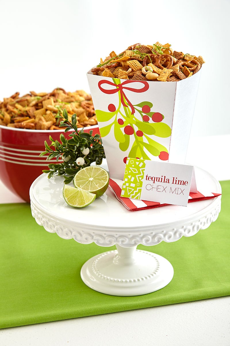 Tequila Lime Chex Mix, perfect for a Mistletoe and Margaritas Holiday Party!