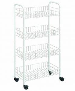 Rolling White Cart, Organize Craft Supplies!