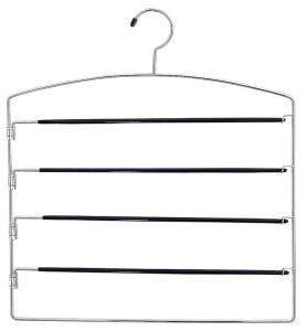 Organization tip: hang napkins and tablecloths on wire hangers!