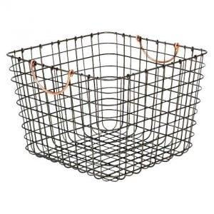 Copper Handled Wire Storage Bin, Organize in Style!