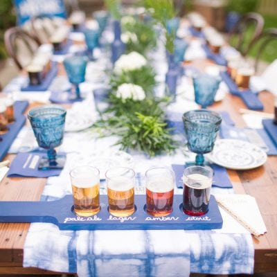 Blue and White Beer Tasting Housewarming Party