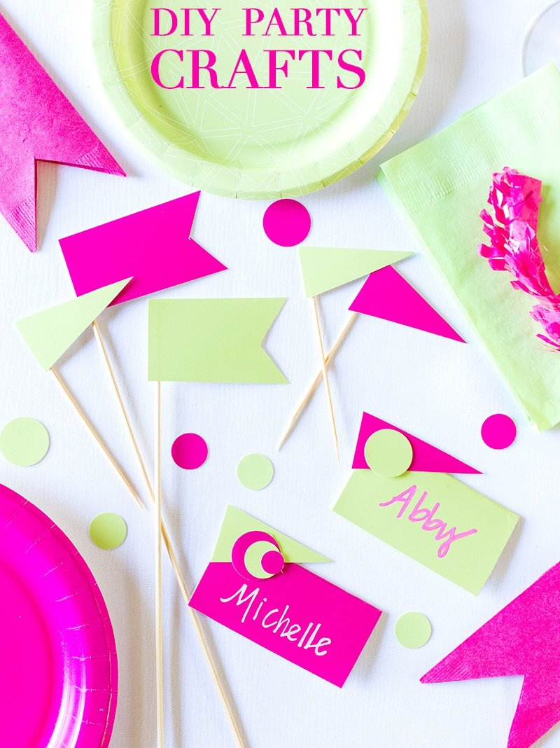 DIY Party Crafts from Paper Plates!  sc 1 st  Pizzazzerie & Pink u0026 Green Birthday Party Cheeky Style! | Pizzazzerie