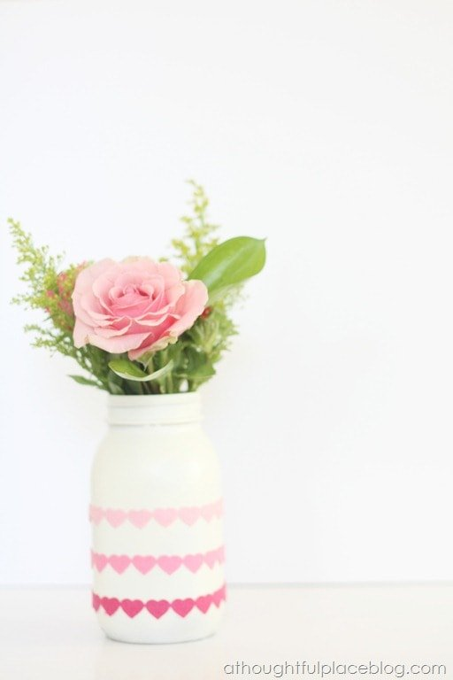 DIY Spray Paint Valentine's Vase