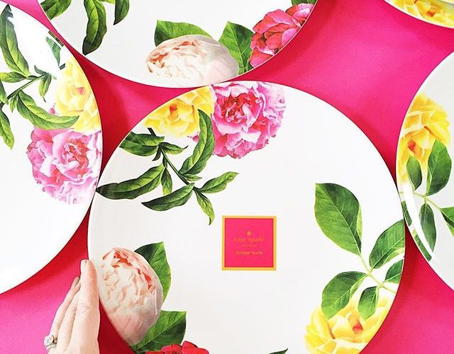 Kate Spade's new 2016 patio floral plates