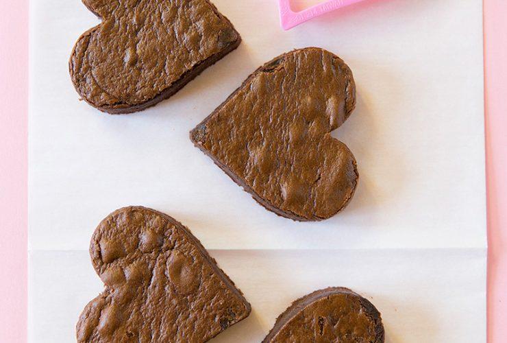 Valentine's Chocolate Fudge Heart Cakes