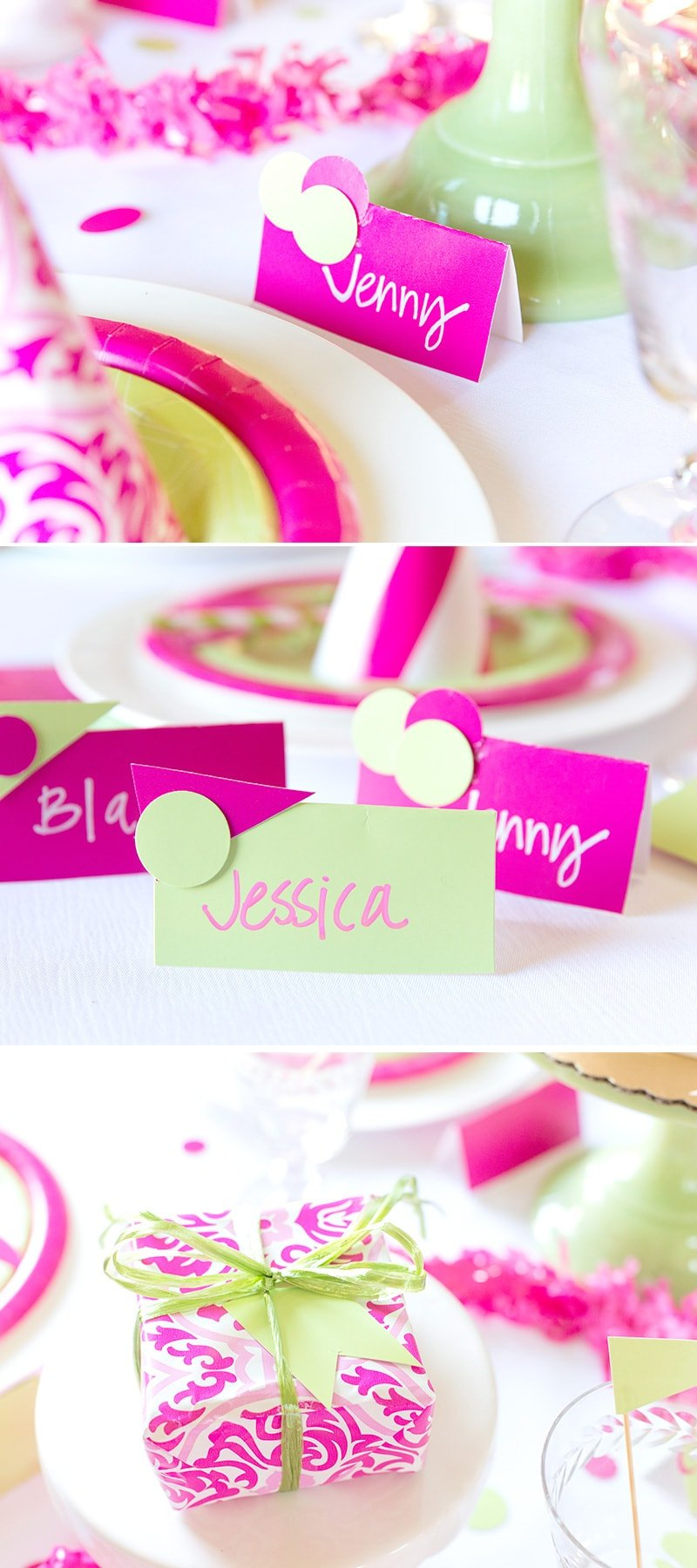 pink green birthday party cheeky style pizzazzerie. Black Bedroom Furniture Sets. Home Design Ideas