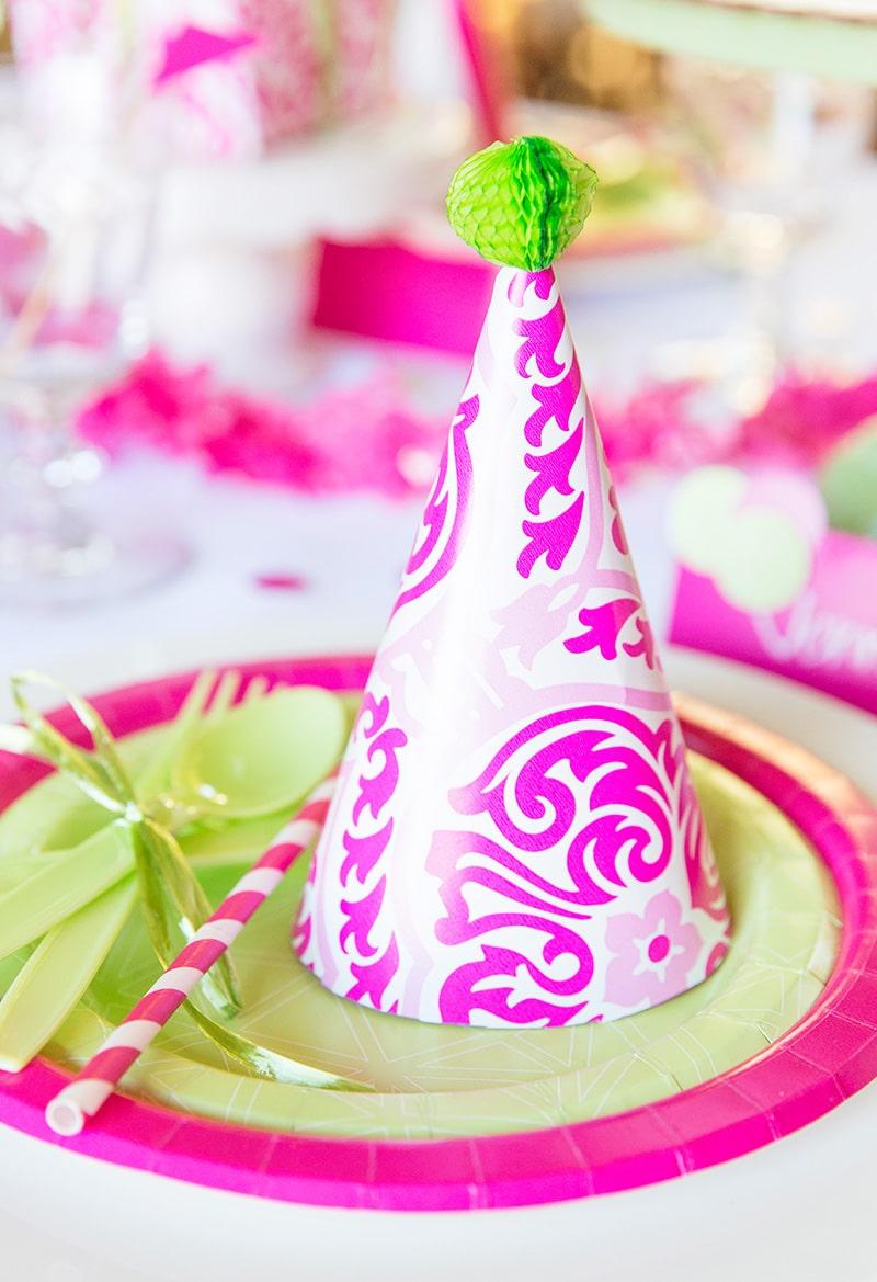 Pink Party Hat DIY