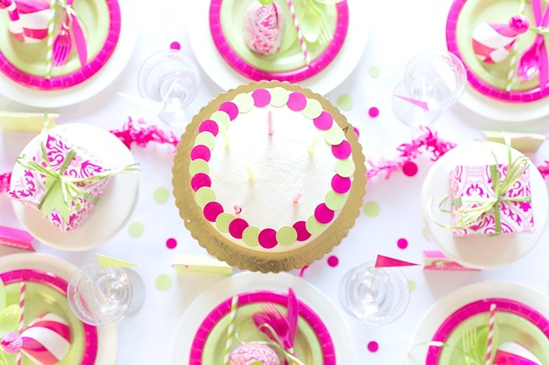 Pink and Green Party Table