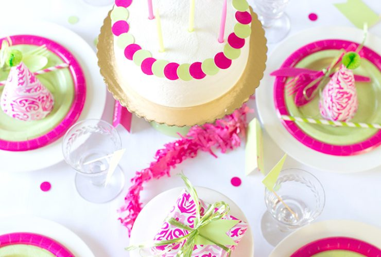 Pink & Green Birthday Party, Cheeky Style!