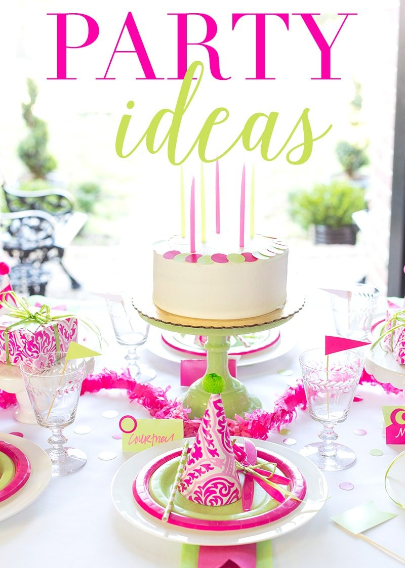 Pink and Green Party Ideas
