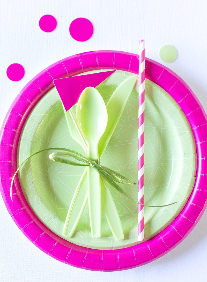 DIY Pink and Green Birthday Party