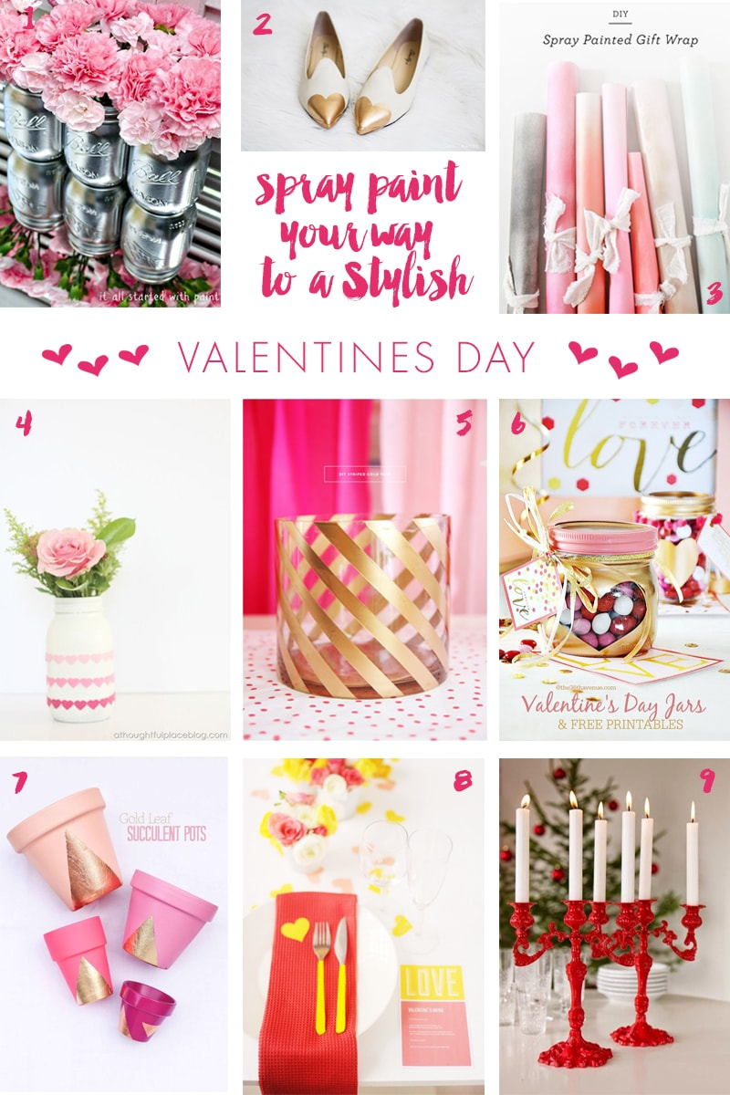 Spray Paint Your Way to a Stylish Valentine's Day! Pizzazzerie.com