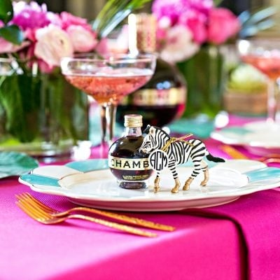 DIY Cocktail Party Tablescape with Chambord! See more at pizzazzerie.com