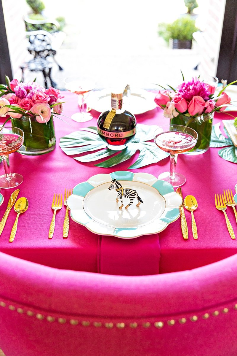 Diy cocktail party tablescape pizzazzerie for Diy cocktail table