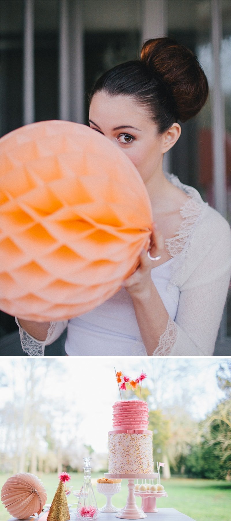 Gorgeous Pink and Orange Details for Parties, Showers, Celebrations, etc!