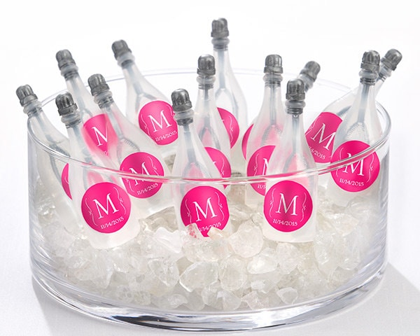 Monogrammed Bubbles in Champagne Bottles for Parties!