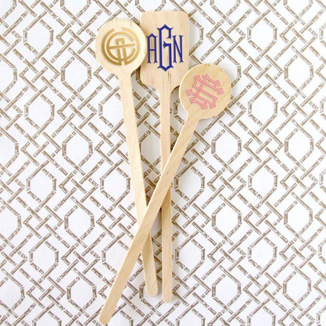 Monogram Stir Sticks for Parties
