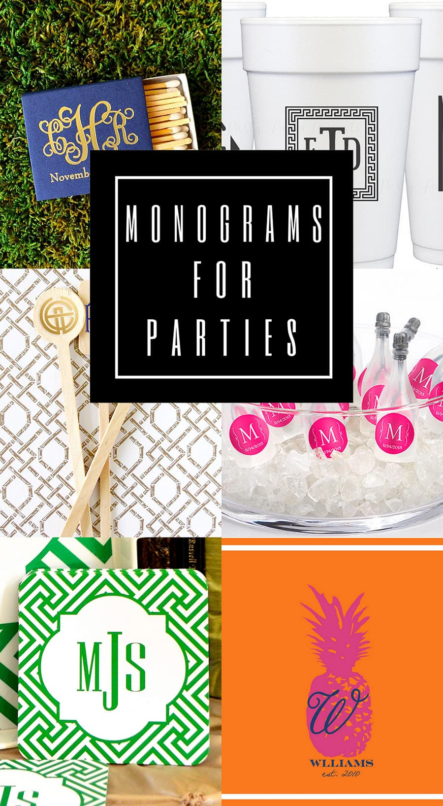 Favorite Monogram Items from Etsy for Parties and Weddings