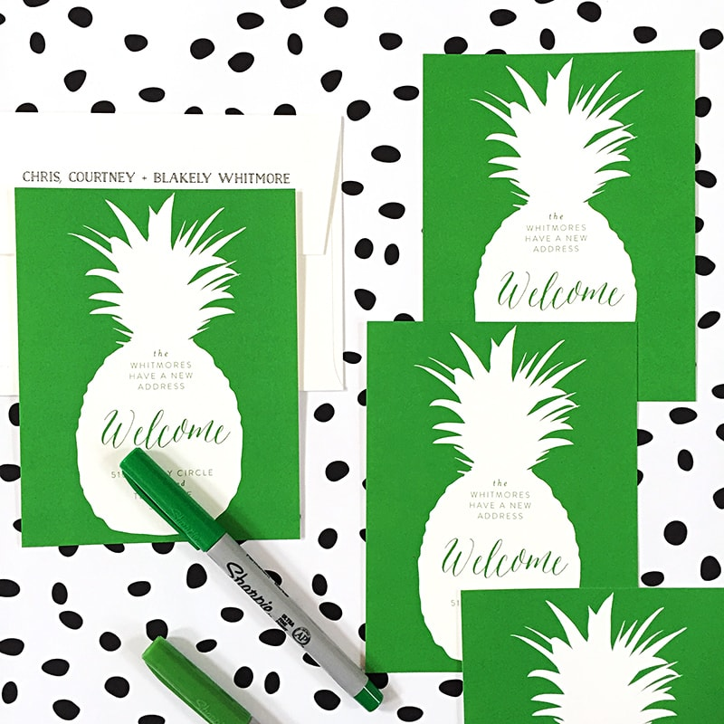 Welcome Pineapple Moving Announcements from Minted