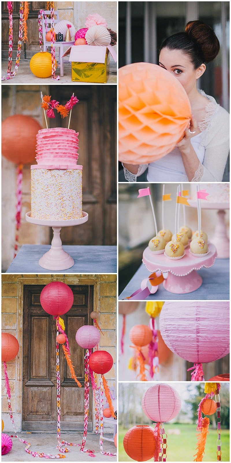 Pin for Party Inspiration! Pink and Orange hues in gorgeous bridal shower!