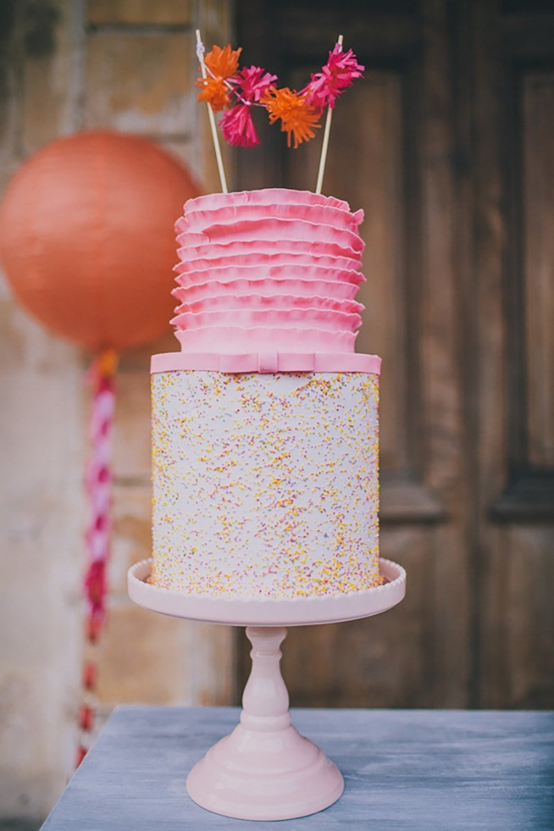 Pretty in Pink and Orange Party Cake and Inspiration!