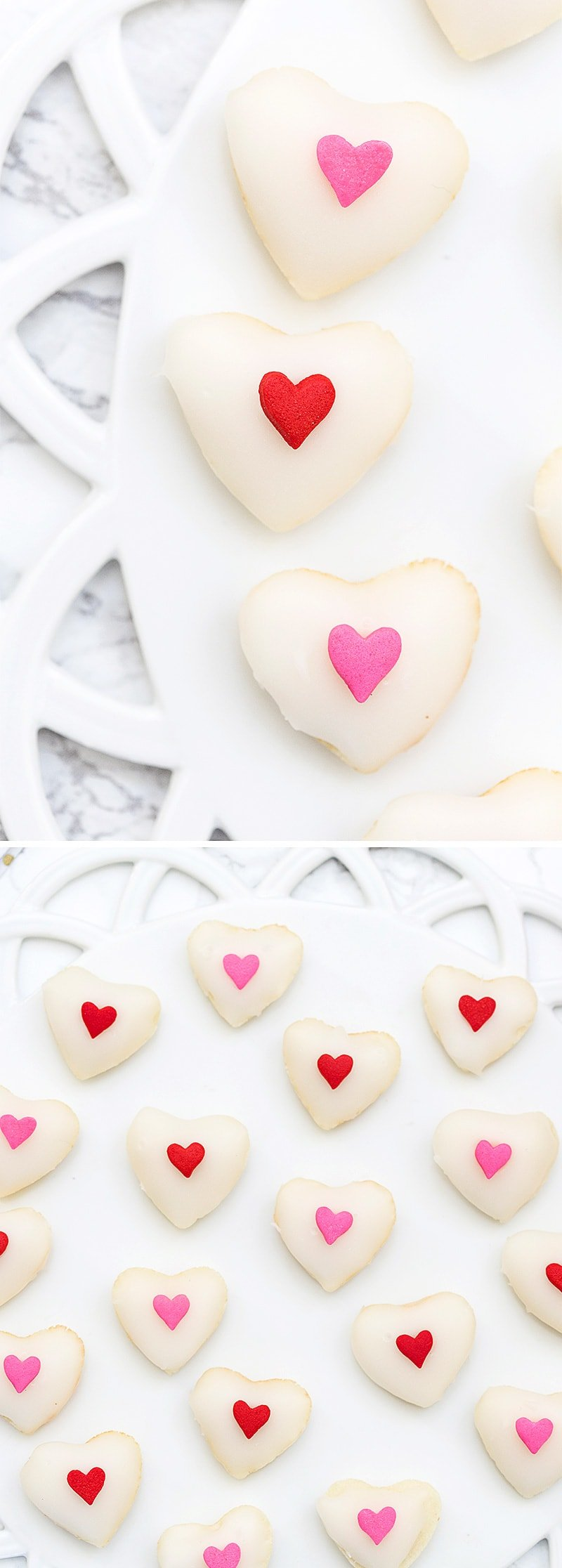Melt in your Mouth Valentine's Day Mini Heart Petit Fours!