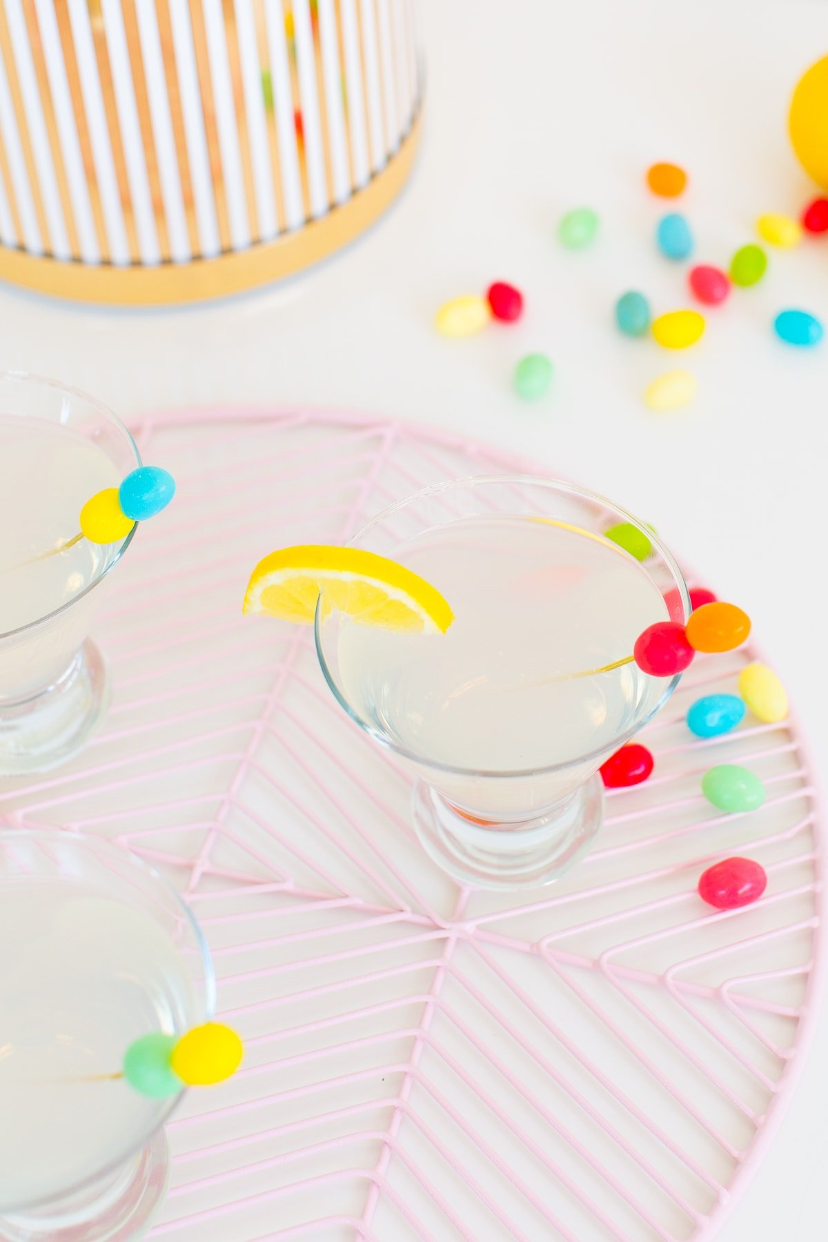 Lemon Drop Sparkle Tinis & Stirrers