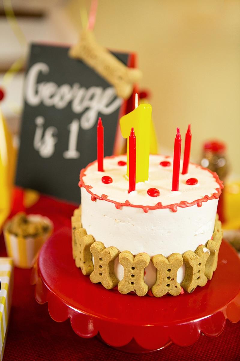 Dog Birthday Cake with Bones, Pizzazzerie.com