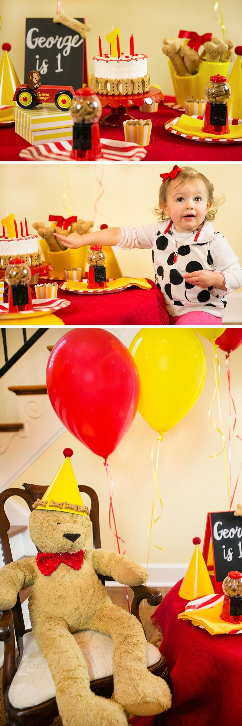 Red + Yellow Dog Birthday Party Ideas!
