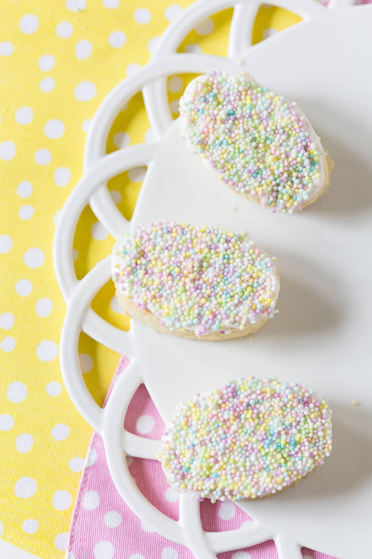 Easter Egg Sprinkle Cookies