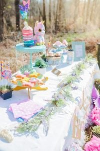Fairies Unicorns + Rainbows Kids Party Ideas