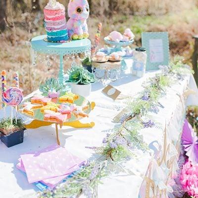 Fairies Unicorns + Rainbows Kids Party Ideas