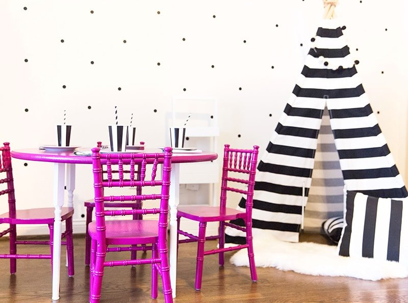 Bright and Colorful Kids Table in Playroom